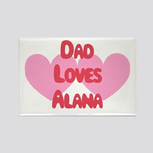 Dad Loves Andrea Rectangle Magnet