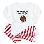 Peta's Not The Boss Of Me Baby Pajamas