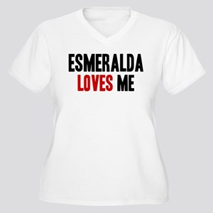 Esmeralda loves me Women's Plus Size V-Neck T-Shir