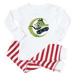 KID FIN SKATBOARDIN' Baby Pajamas
