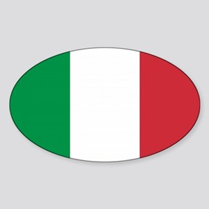 Italian Flag Oval Sticker