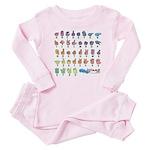 Pastel Fingerspelled ABC Baby Pajamas