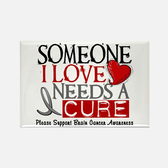 Needs A Cure BRAIN CANCER Rectangle Magnet
