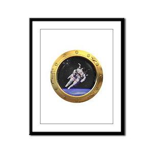 Space Porthole Framed Panel Print
