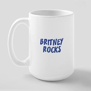 BRITNEY ROCKS Large Mug