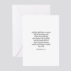 LEVITICUS  16:12 Greeting Cards (Pk of 10)