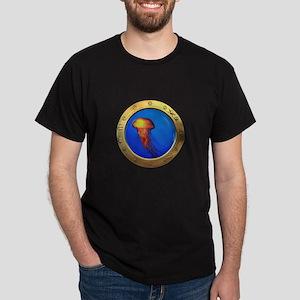 Jellyfish Porthole Dark T-Shirt
