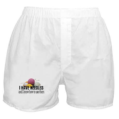 Knitting Needles Boxer Shorts