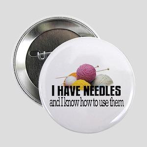 "Knitting Needles 2.25"" Button"