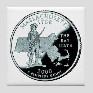 Massachusetts State Quarter Tile Coaster