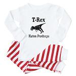 Vintage T-Rex hates Pushups Baby Pajamas