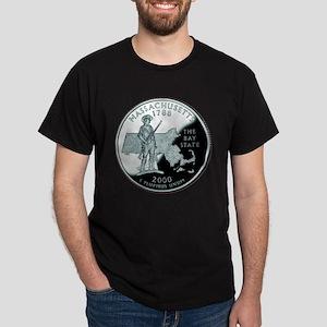 Massachusetts State Quarter Dark T-Shirt