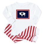 Wyoming State Flag Baby Pajamas