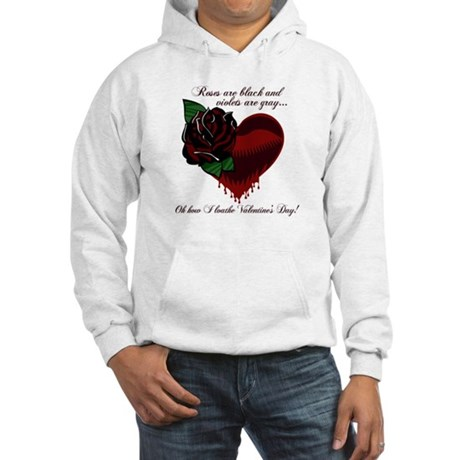 Roses Are Black Poem Hooded Sweatshirt
