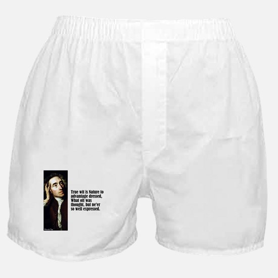 """Pope """"True Wit"""" Boxer Shorts"""