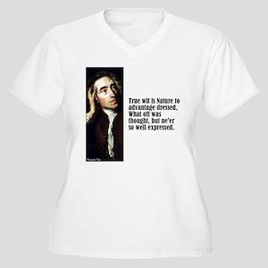 "Pope ""True Wit"" Women's Plus Size V-Neck T-Shirt"