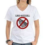 Less Cowbell Women's V-Neck T-Shirt