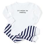 idratherbereadingblk Baby Pajamas