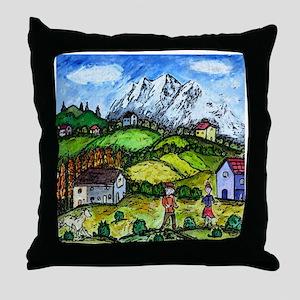 Heidi Country Throw Pillow