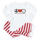 Peace, Love & Breastfeeding Baby Pajamas