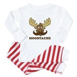 Moostache Baby Pajamas