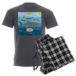 Whale Shark Thoughts Men's Charcoal Pajamas