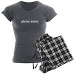 gluten sucks Women's Charcoal Pajamas