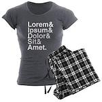 Lorem Ipsum Dolor Women's Charcoal Pajamas
