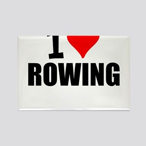 I Love Rowing Magnets