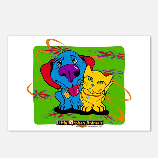 Cute Cat artists Postcards (Package of 8)