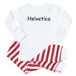 Helvetica Written In Comic Sans Font Baby Pajamas