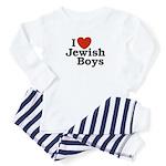 I Love Jewish Boys Baby Pajamas