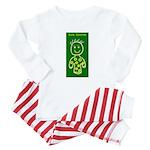 Cute Caroline Baby Pajamas (Green Baby Pajamas)