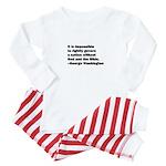George Washington Quote Baby Pajamas