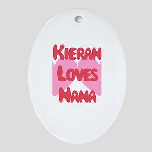 Kieran Loves Nana Oval Ornament