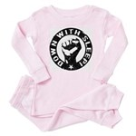 Down With Sleep! Baby Protest Baby Pajamas