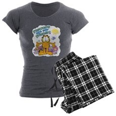 Flowers Are Our Friends! Women's Charcoal Pajamas