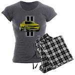 New Camaro Yellow Women's Charcoal Pajamas