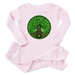Circle Celtic Tree of Life Baby Pajamas