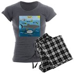 Whale Shark Thoughts Women's Charcoal Pajamas