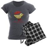 Personalized Duck in Boots Women's Charcoal Pajama