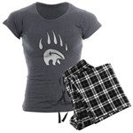 Tribal Bear Claw Women's Charcoal Pajamas