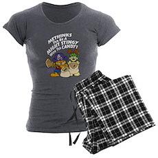 Garfield Stingy Candy Women's Charcoal Pajamas