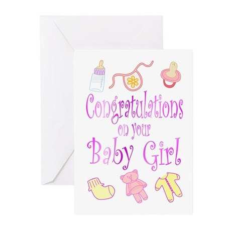 Congratulations baby girl greeting cards pk of 10 by familyevents congratulations baby girl greeting cards pk of 10 m4hsunfo