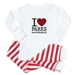 I Heart Parks Baby Pajamas Suit