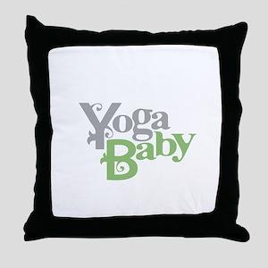 Yoga Baby Throw Pillow