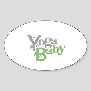 Yoga Baby Oval Sticker