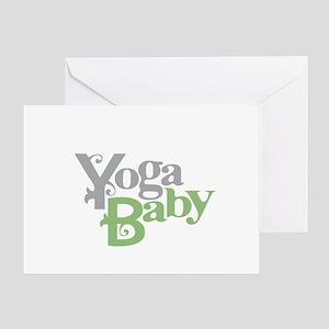 Yoga Baby Greeting Card