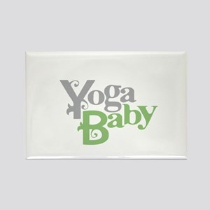 Yoga Baby Rectangle Magnet