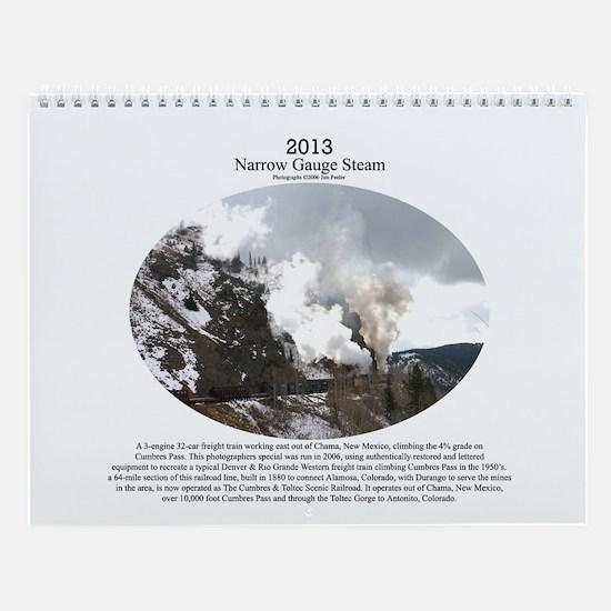 2013 Narrow Gauge Railroad Wall Calendar